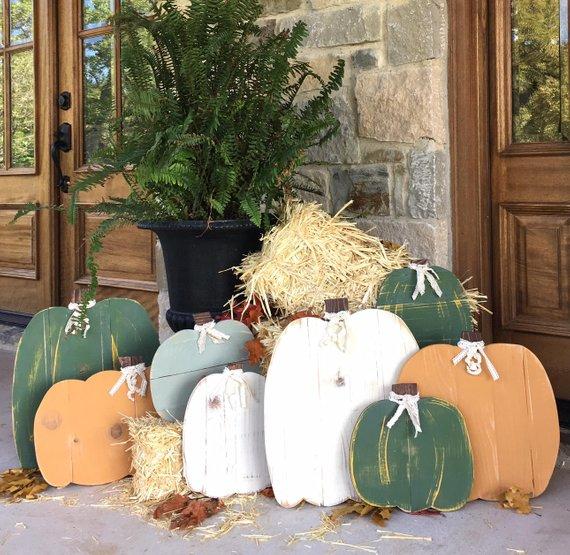 Painted Wood Pumpkins