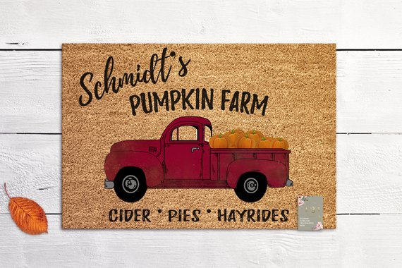 Personalized Fall Doormat