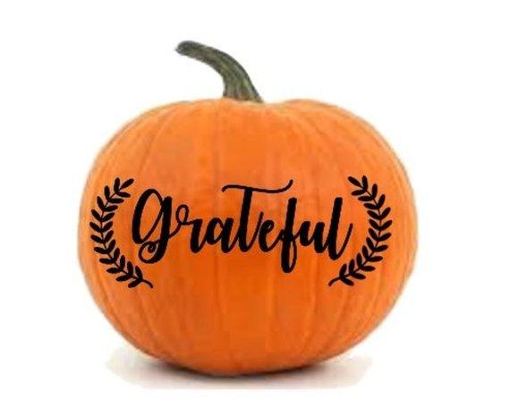 Grateful Pumpkin Decal