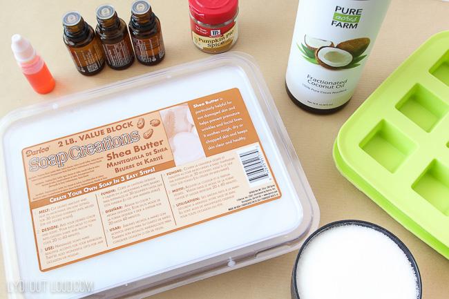 DIY Pumpkin Spice Sugar Scrub Cubes Supplies