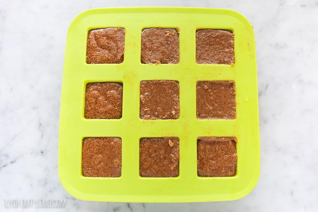 Mold for Pumpkin Spice Sugar Scrub Cubes