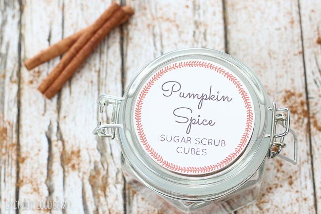Pumpkin Spice Sugar Scrub Cubes Gift Idea