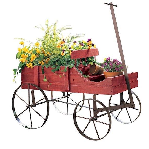 Decorative Fall Wagon Planter