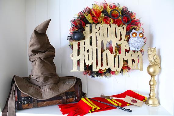 DIY Harry Potter Wreath