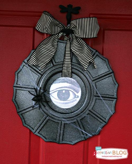 Ceiling Medallion DIY Halloween Wreath