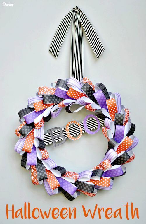 Paper BOO Halloween Wreath