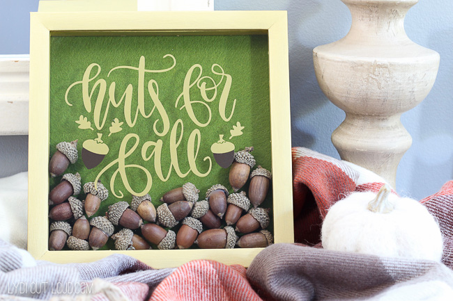 DIY Acorn Fall Shadowbox Decoration