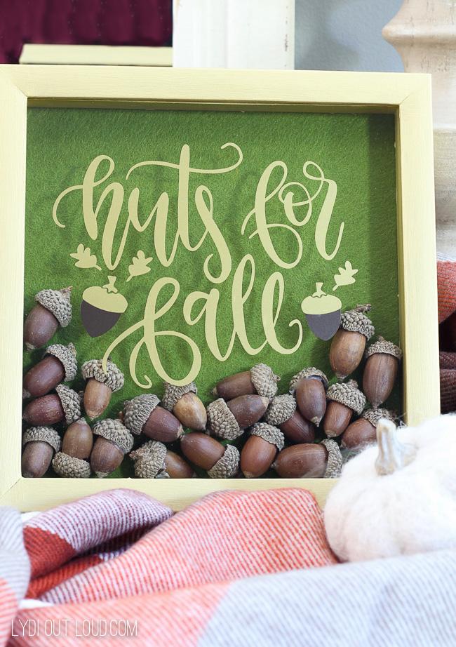Create a beautiful Acorn Fall Shadowbox for a fun fall decoration!
