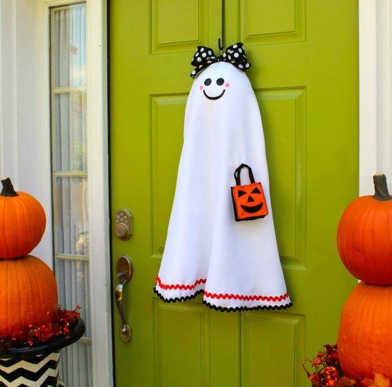 Ghost Halloween Door Hanger