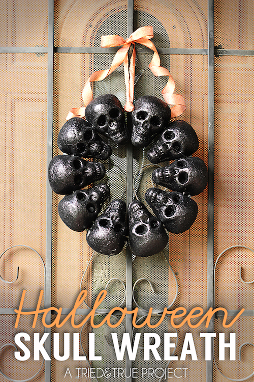 DIY Halloween Skull Wreath