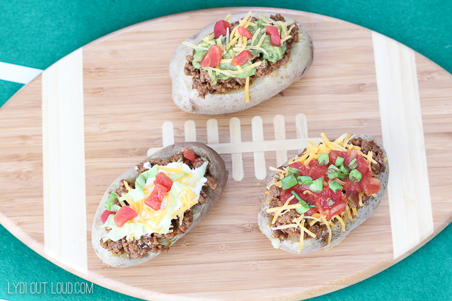 Tutorial for an amazing Taco Stuffed Baked Potato Bar!
