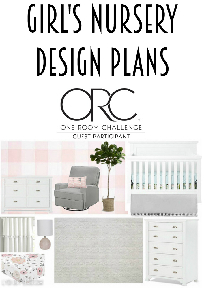 Girl's Nursery Design Inspiration - One Room Challenge Week 1 #nurserydecor #girlsnursery #nurserydesign via @lydioutloud