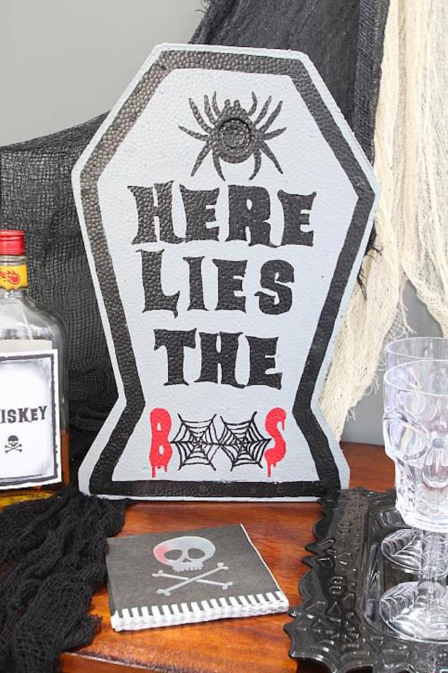 Halloween Boos Sign