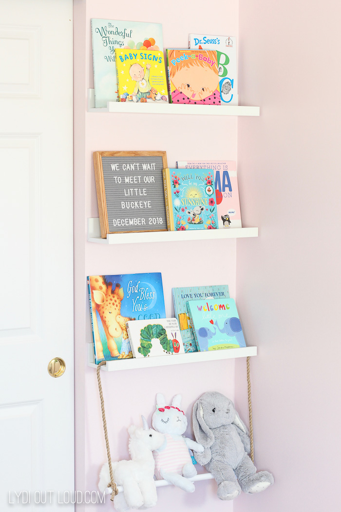 Decorative DIY Nursery Storage Ideas #nurserydecor #nurseryorganization via @lydioutloud