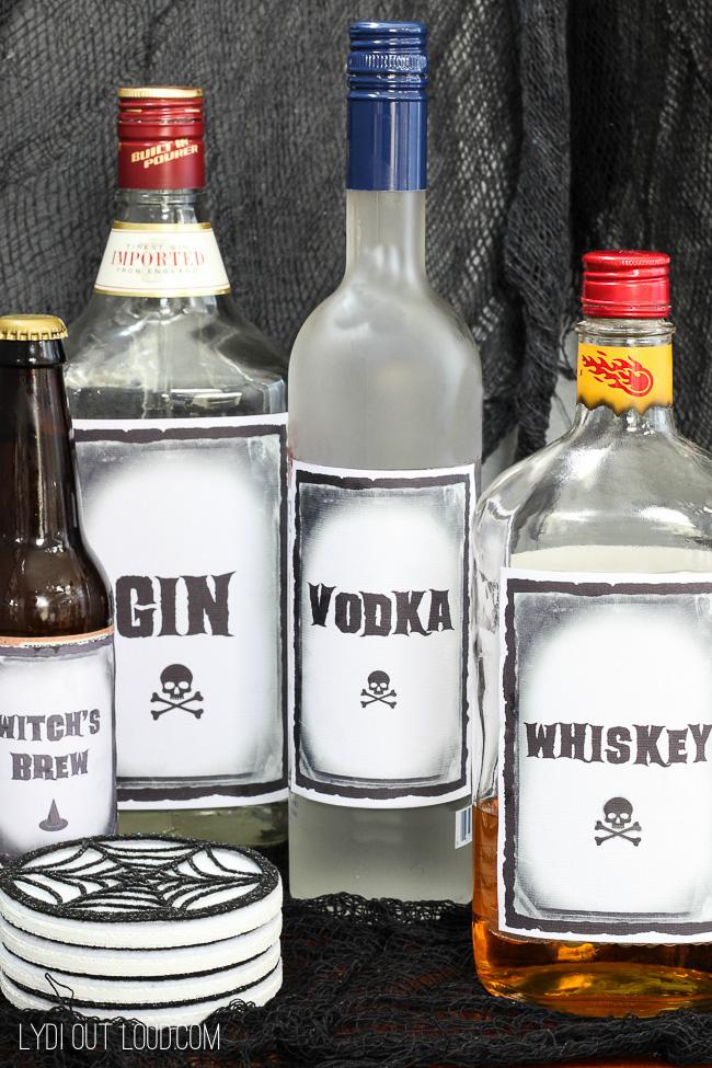 FREE Printable Halloween Drink Labels