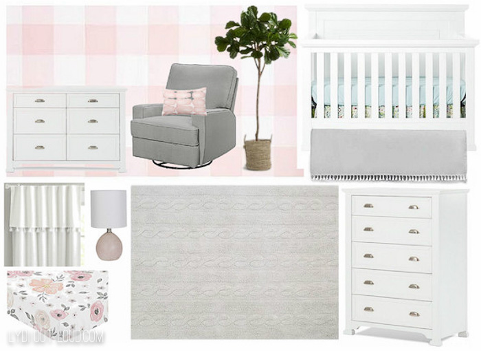 Girls' Nursery Inspiration Board