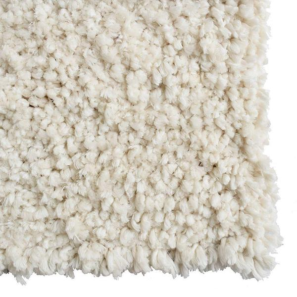 Shag White Nursery Area Rug