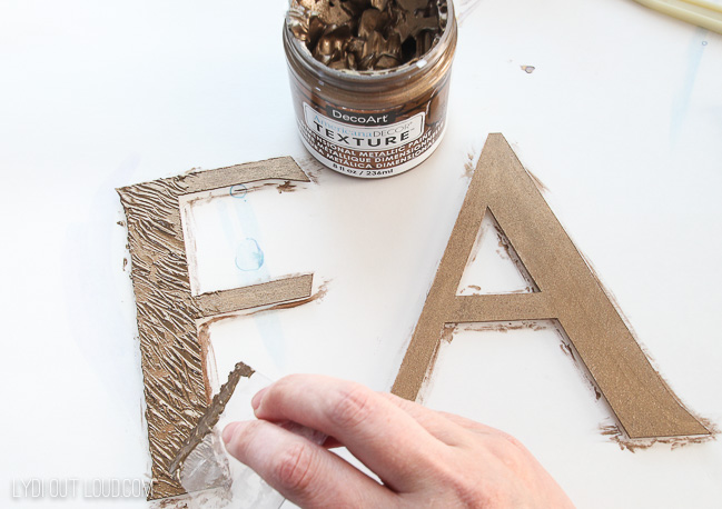 DIY Textured Wood Letters for diy fall sign