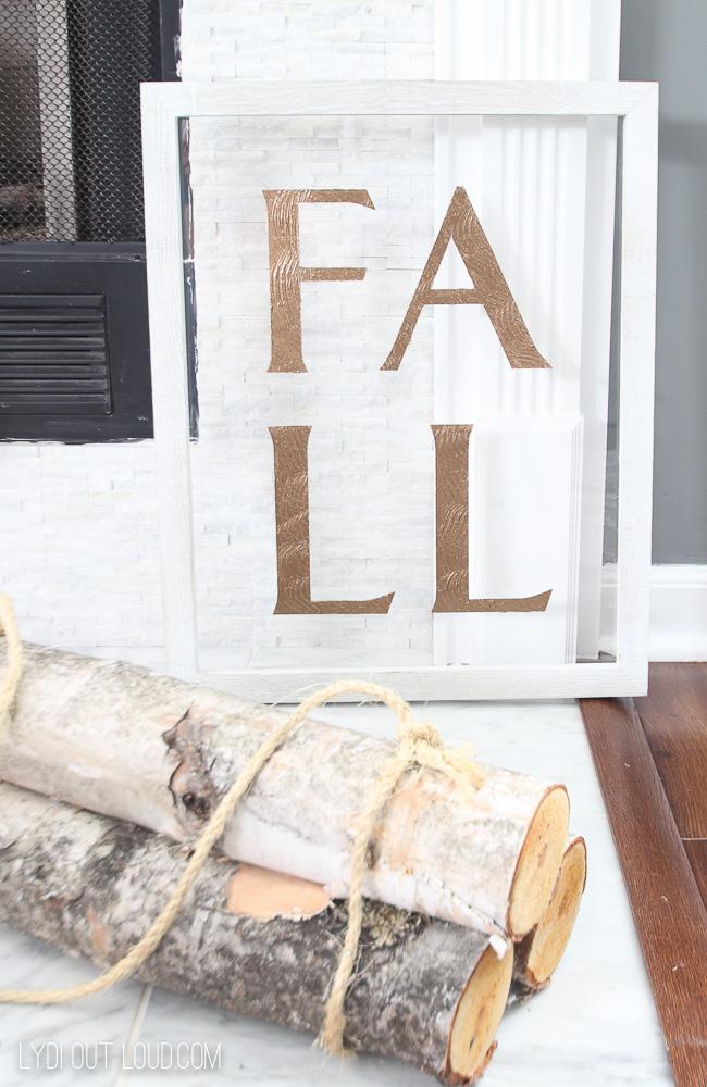 Wood and Acrylic DIY Fall Sign