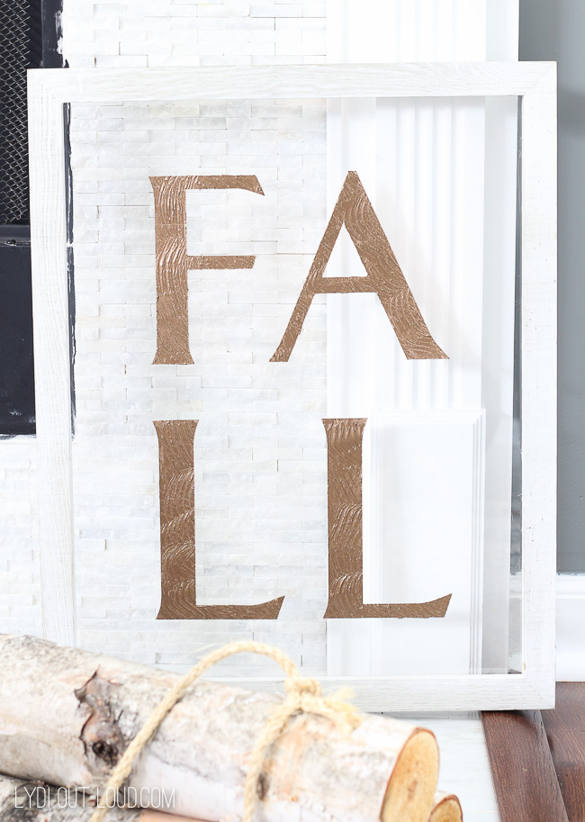 Wood Fall Sign DIY