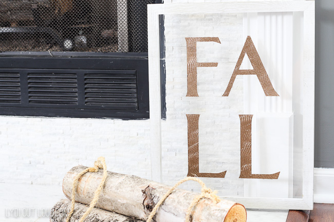 DIY Wood Fall Sign on Acrylic