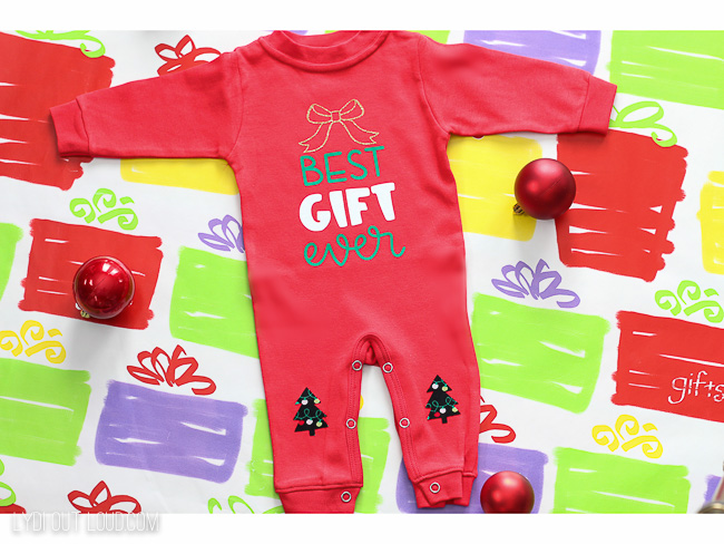 DIY Best Gift Ever Baby's First Christmas pajamas
