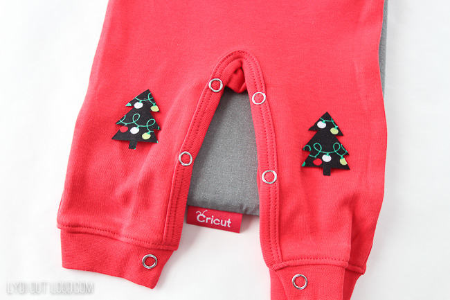 Baby Christmas Pajamas DIY Knee Patches
