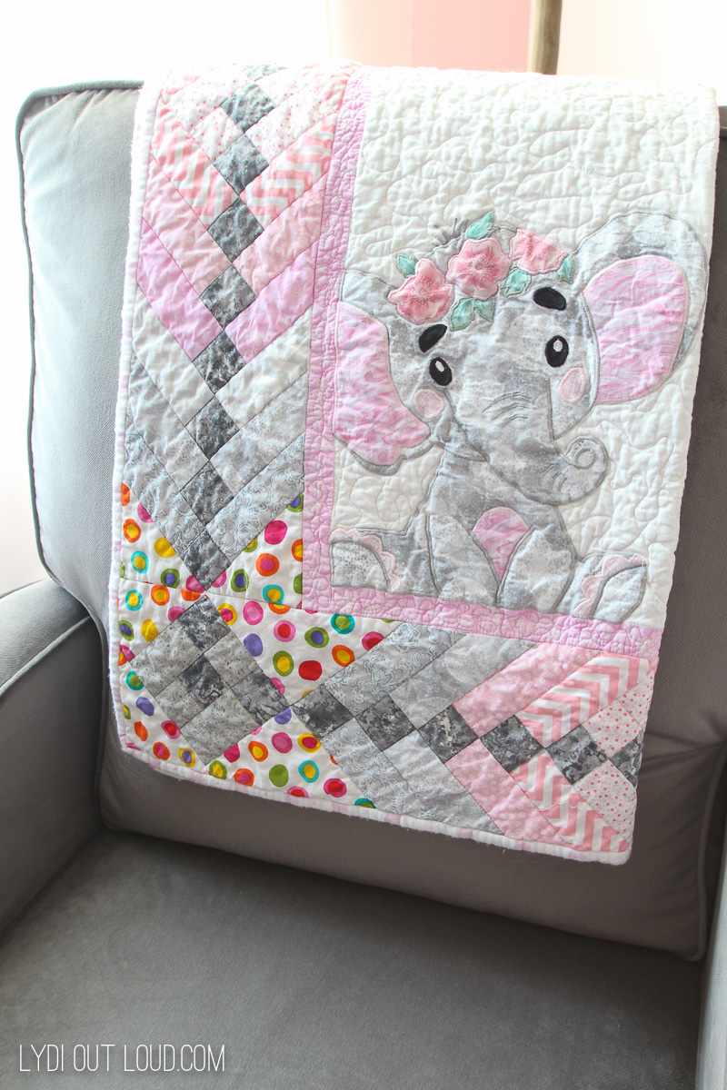 Little Girl's Elephant Quilt