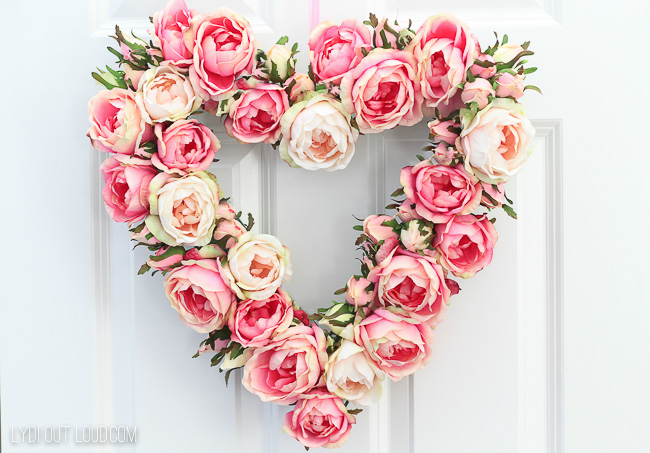 English Rose Floral Valentine's Day Wreath Tutorial