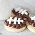 Football shaped sugar cookies