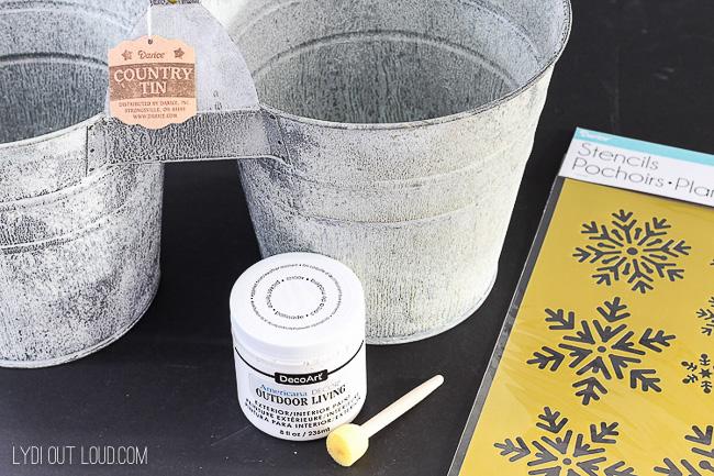 DIY Ice Melt Bucket Supplies