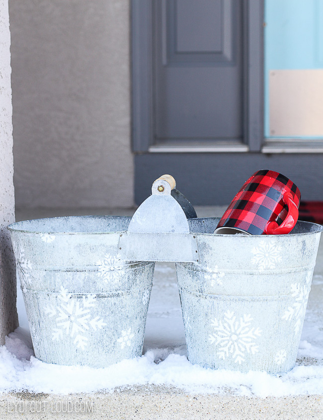 Snowflake DIY Ice Melt Bucket