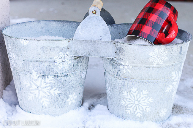 Decorative DIY Ice Melt Bucket