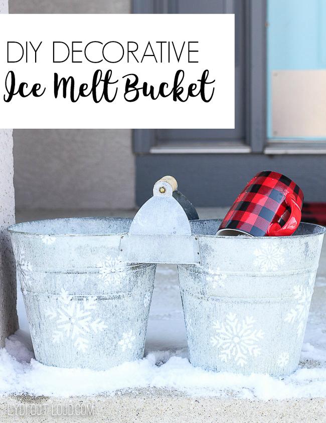 DIY Decorative Ice Melt Bucket