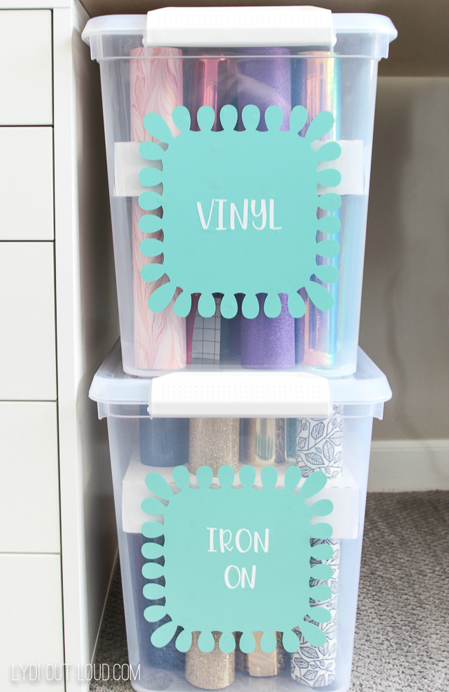 How to organize Cricut cutting materials