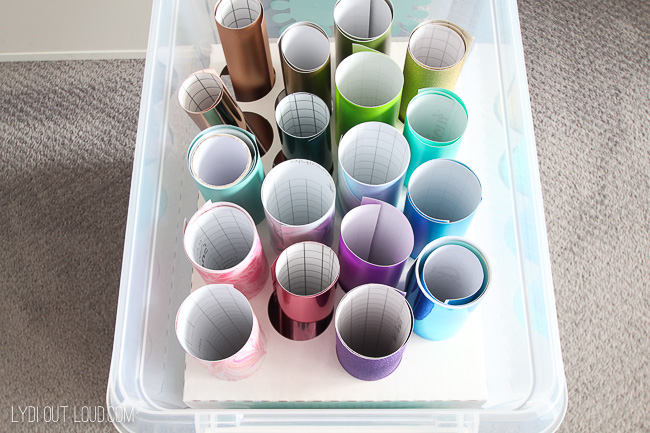 How to organize vinyl rolls