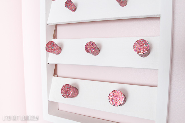 Dazzling Glitter painted corks