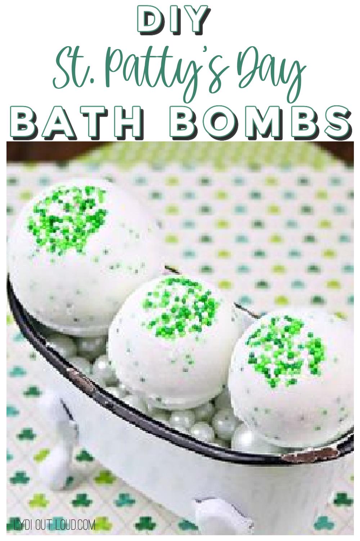 Fun and festive DIY St. Patrick's Day Bath Bombs! via @lydioutloud