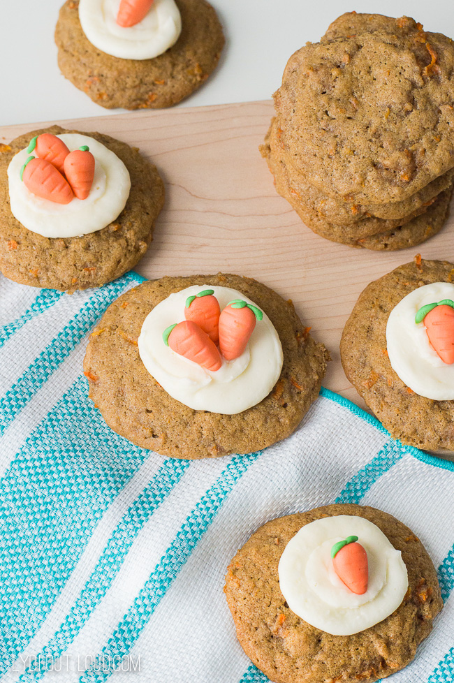 Carrot Cake Cookies- perfect for Easter!