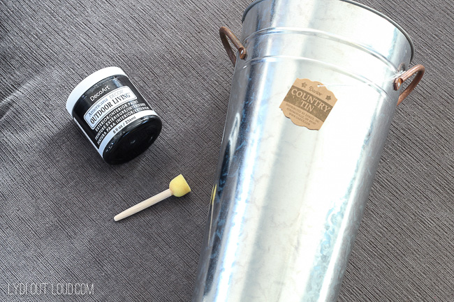 DIY Galvanized Metal supplies