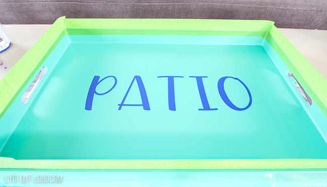 painted serving tray makeover