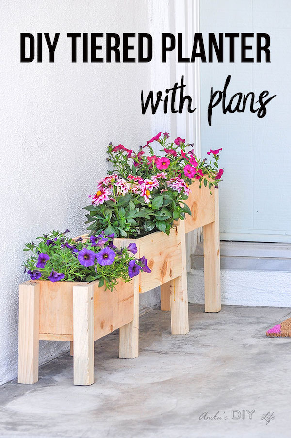 DIY Tiered Planter Box