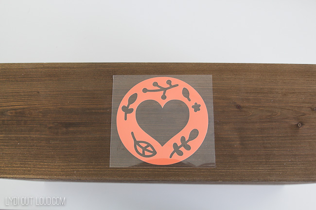 Iron on to wood with Cricut