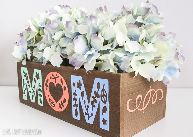 Iron-on wood Planter Box