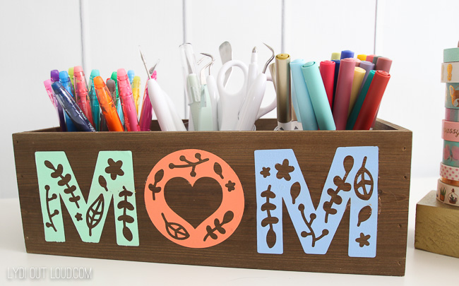 DIY Personalized Craft Storage Planter Box