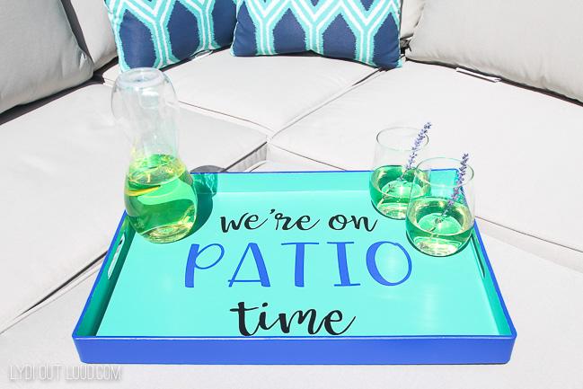 Outdoor DIY serving tray