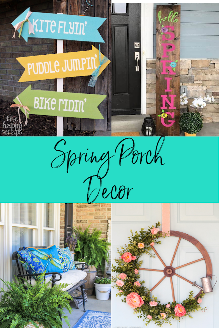 Beautiful Spring Porch Decor Inspiration  via @lydioutloud