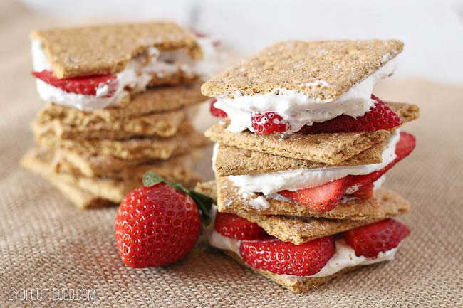 Low Calorie Strawberry Shortcake Stacks recipe