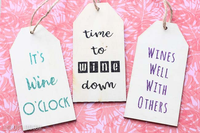 DIY Wood Wine Gift Tags gift idea