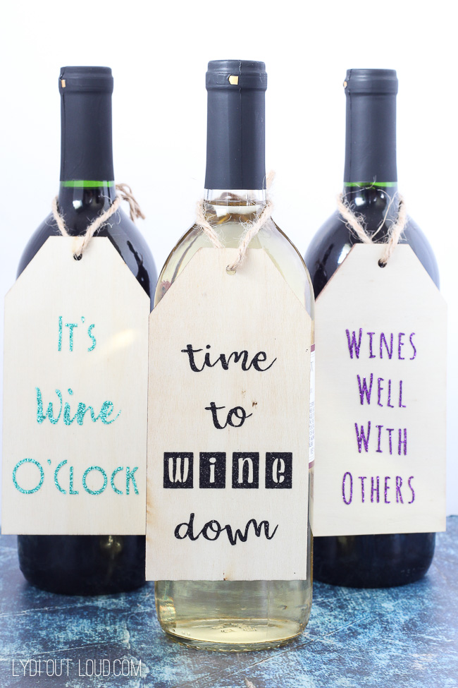 DIY Wood Wine Gift Tags make the perfect hostess or housewarming gift!